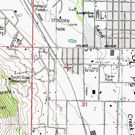 Topographic Map of 03N07W31BAC_01 Well, MT
