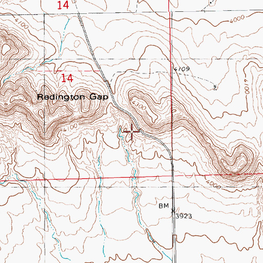Topographic Map of Redington Gap, NE