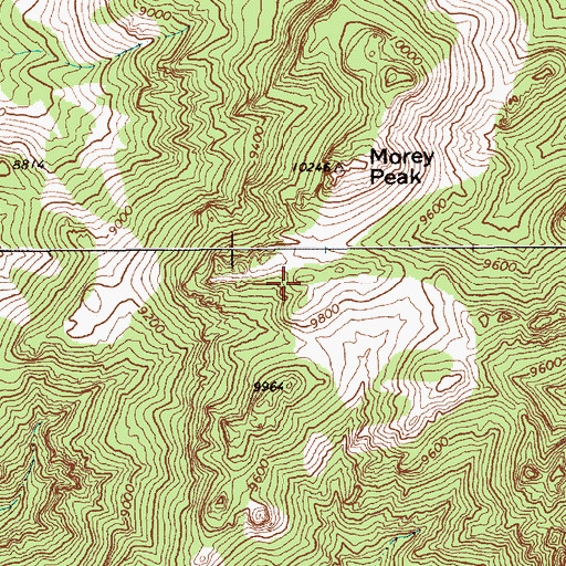 Topographic Map of Hot Creek North Summit, NV
