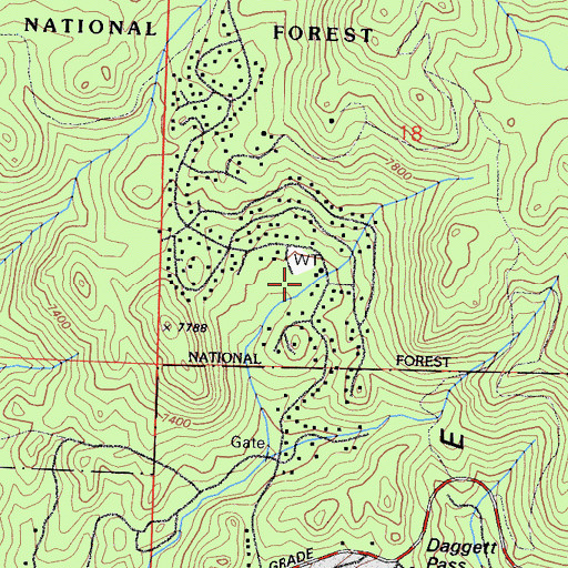 Topographic Map of Kingsbury Village, NV