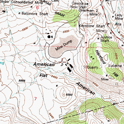 Topographic Map of Reed and Wades Mill, NV