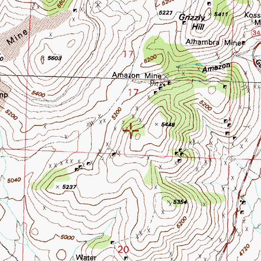 Topographic Map of Silver City Mining District, NV