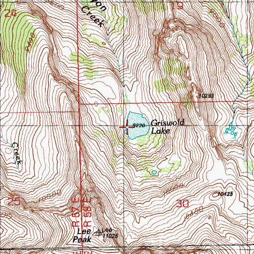 Topographic Map of Griswold Lake, NV