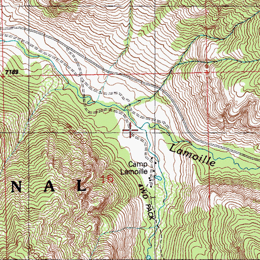 Topographic Map of Right Fork Lamoille Creek, NV
