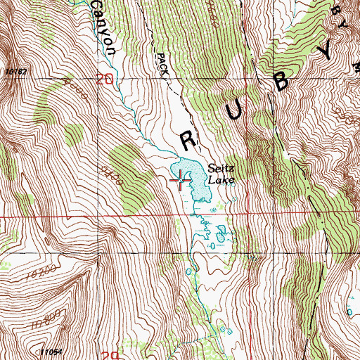 Topographic Map of Seitz Lake, NV