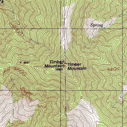 Topographic Map of Timber Mountain, NV