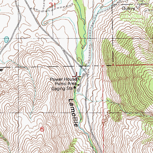 Topographic Map of Powerhouse Picnic Area, NV