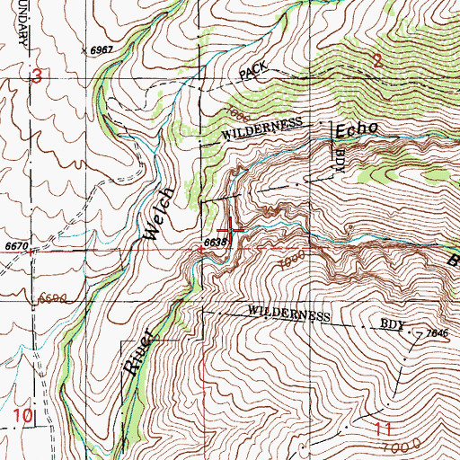 Topographic Map of Stoddard Creek, NV