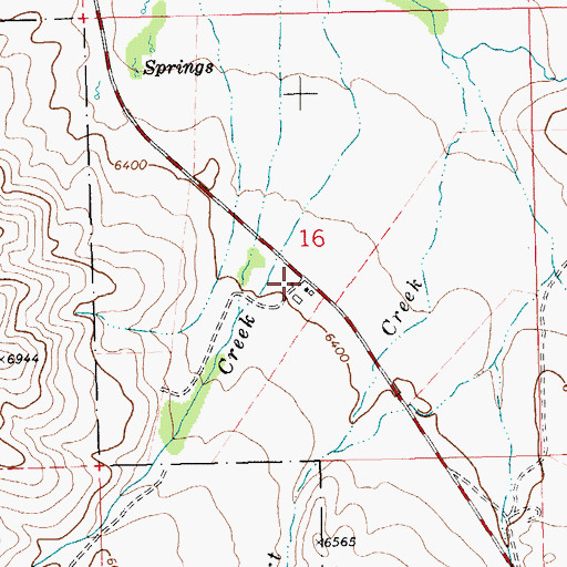 Topographic Map of Murphy Ranch, NV