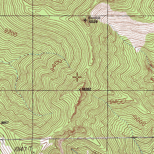 Topographic Map of Grant Range Wilderness, NV