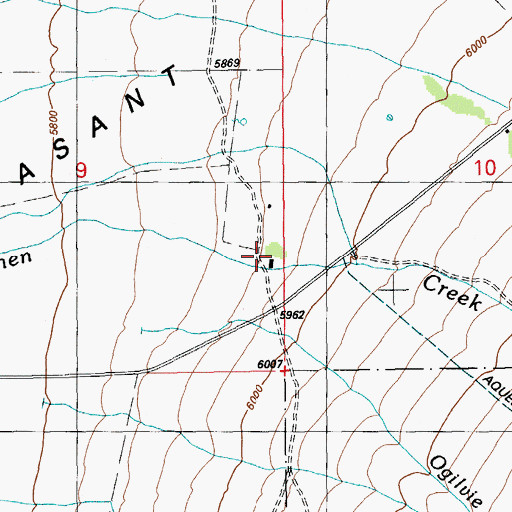 Topographic Map of Blaine Post Office (historical), NV