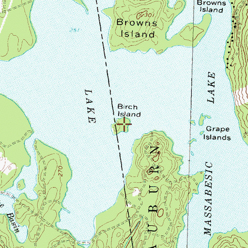 Topographic Map of Birch Island, NH