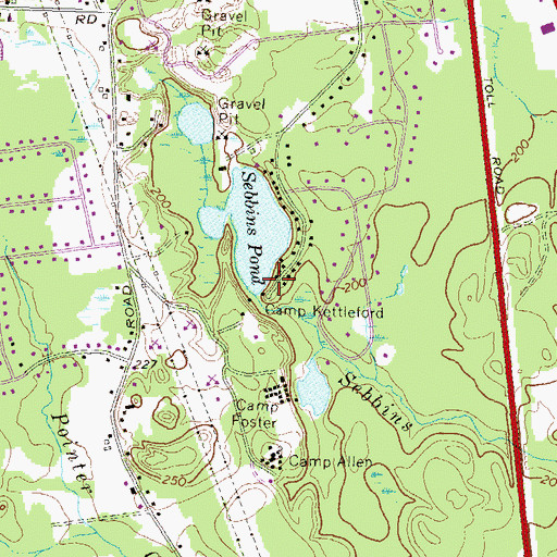 Topographic Map of Camp Kettleford, NH