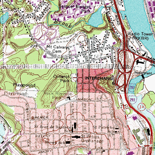 Topographic Map of Cullerot Park, NH