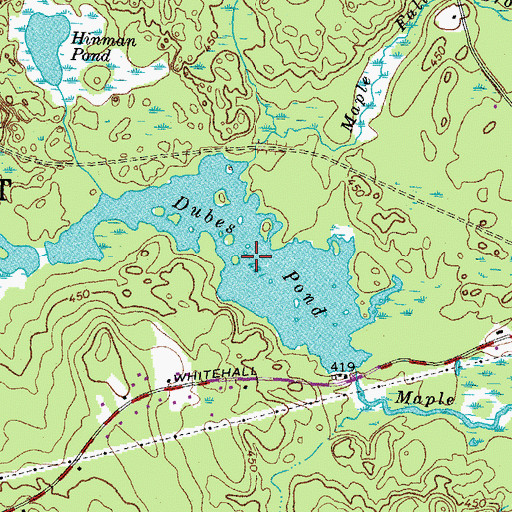 Topographic Map of Dubes Pond, NH