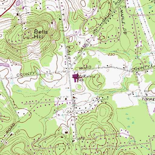 Topographic Map of McKelvie Intermediate School, NH