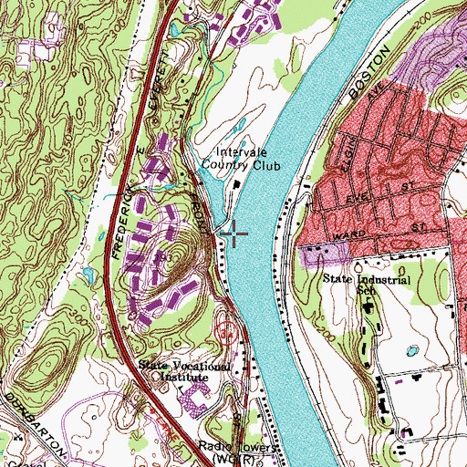 Topographic Map of Milestone Brook, NH