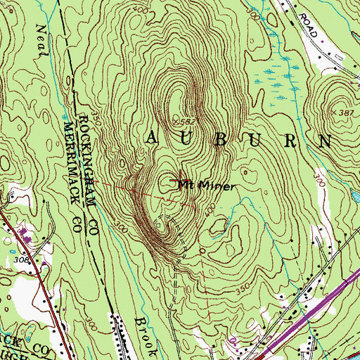 Topographic Map of Mount Miner, NH