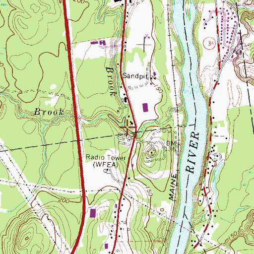 Topographic Map of Pointer Club Brook, NH