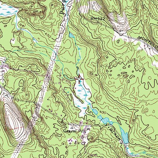 Topographic Map of Purgatory Brook, NH