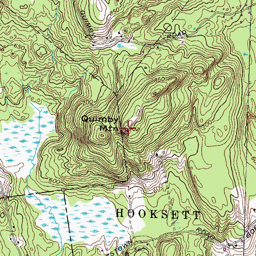 Topographic Map of Quimby Mountain, NH