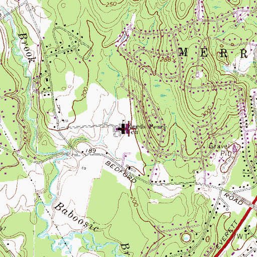 Topographic Map of Reeds Ferry Elementary School, NH