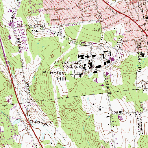 Topographic Map of Rundlett Hill, NH