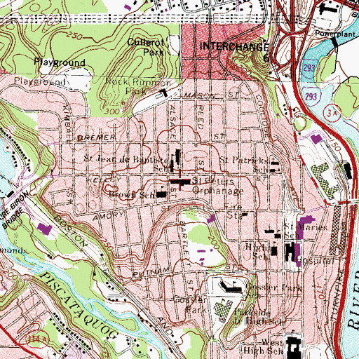 Topographic Map of Saint Peters Orphanage, NH