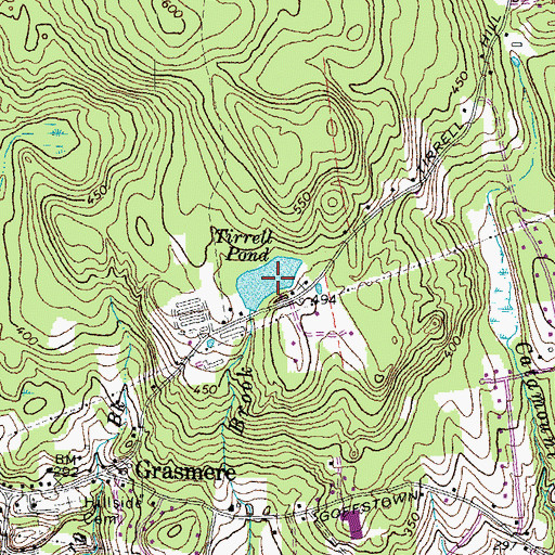 Topographic Map of Tirrell Pond, NH