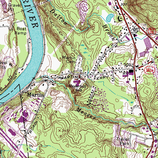 Topographic Map of Fred C Underhill School, NH