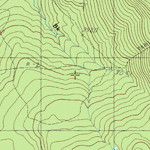 Topographic Map of A-Z Trail, NH