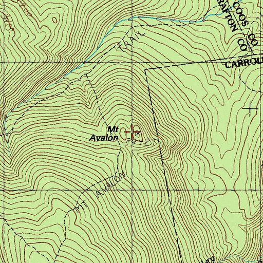 Topographic Map of Mount Avalon, NH