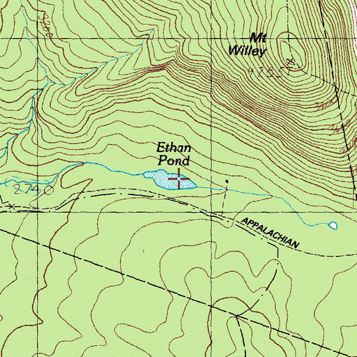 Topographic Map of Ethan Pond, NH