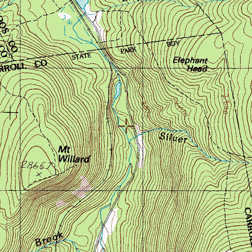 Topographic Map of Flume Cascade, NH