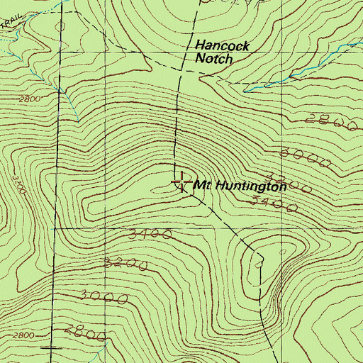 Topographic Map of Mount Huntington, NH