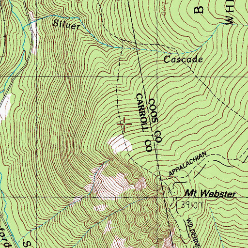 Topographic Map of Webster Trail, NH