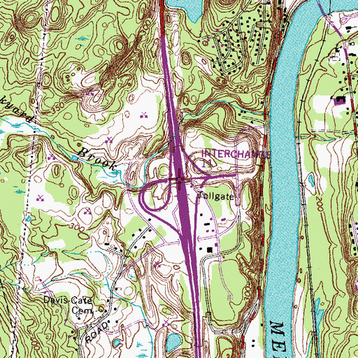 Topographic Map of Interchange 8, NH