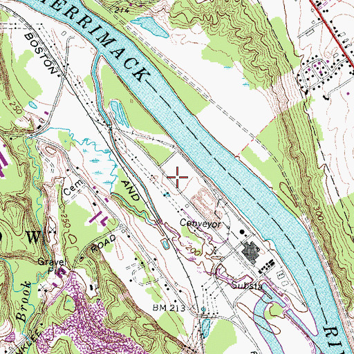 Topographic Map of PSNH Heliport, NH
