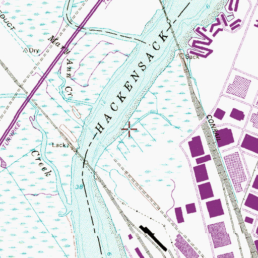 Topographic Map of Anderson Creek, NJ