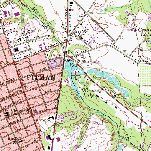 Topographic Map of Duffield Run, NJ
