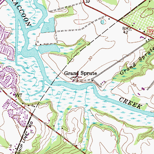 Topographic Map of Grand Sprute, NJ