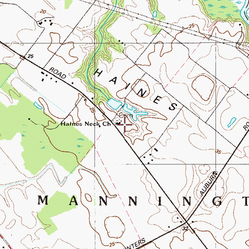 Topographic Map of Haines Neck Church, NJ