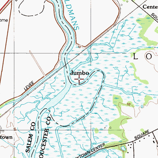 Topographic Map of Jumbo, NJ