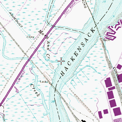 Topographic Map of Mary Ann Creek, NJ