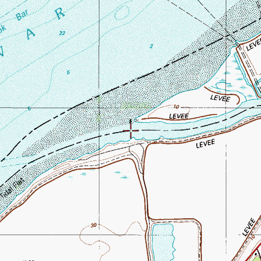 Topographic Map of Oldmans Creek, NJ