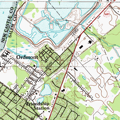 Topographic Map of Ordmont, NJ