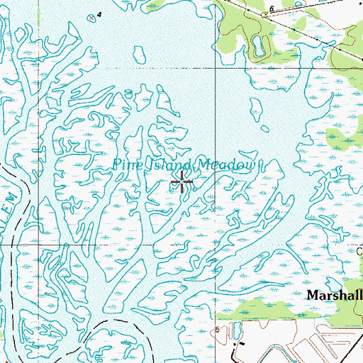 Topographic Map of Pine Island Meadow, NJ