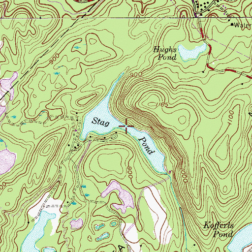 Topographic Map of Stag Pond, NJ
