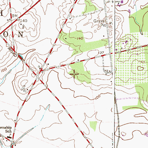 Topographic Map of Township of South Harrison, NJ