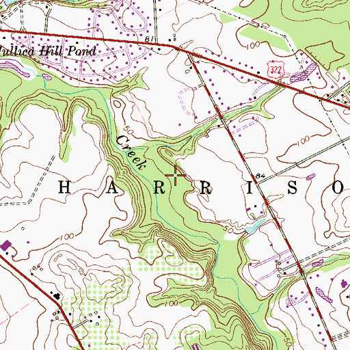 Topographic Map of Township of Harrison, NJ